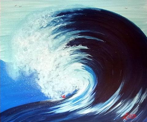 Acht 2 - Tsunami, 2014 (50x60, Acryl auf Leinwand)