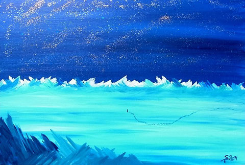 Arktis, 2014 (Acryl auf Leinwand, 40x60)
