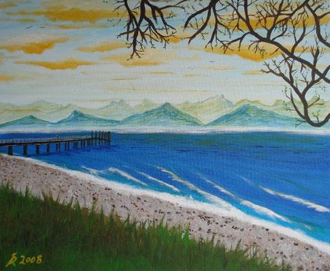 Der Steg, 2008 (Acryl auf Leinwand, 50x60)