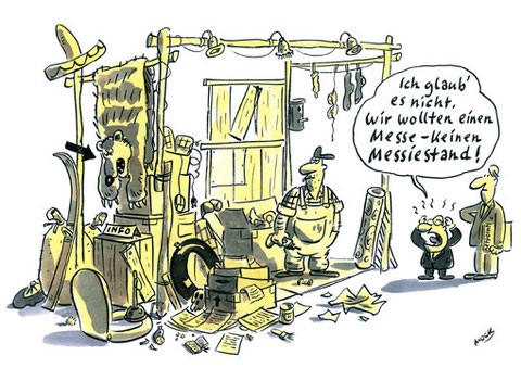 Cartoon von Mock zum Thema Messe