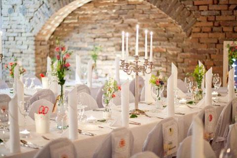Nostalgie-Hochzeit Tischdekoration Christine Hohenstein