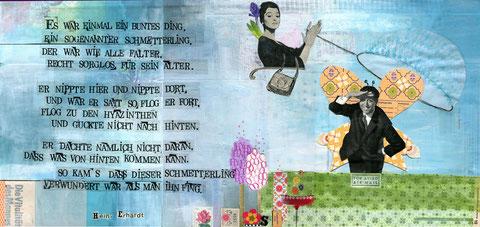 """Illustration zu Heinz Erhardts Gedicht """"Der Schmetterling"""""""