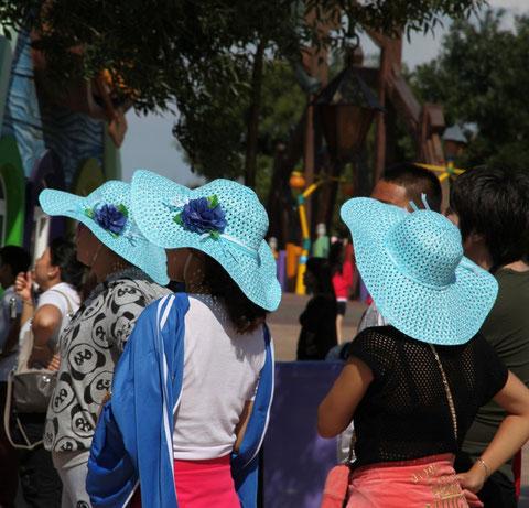 blue hat ladies, Dalian, China