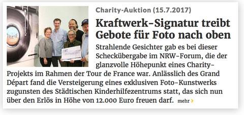 Kraftwerk-Signatur treibt geboten für Foto nach oben
