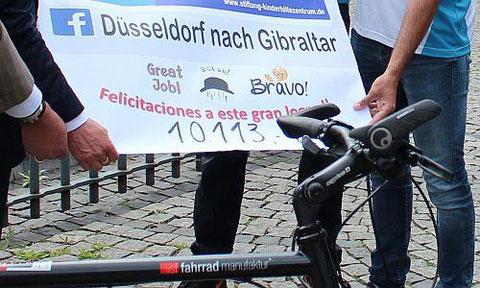 Umgerechnet etwas mehr als 3,60 Euro wurden pro Kilometer erradelt