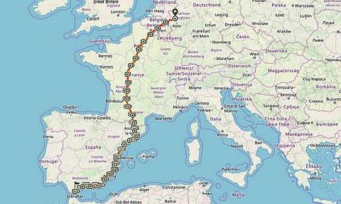 28 Etappen von jeweils 100 Kilometern liegen vor den Studenten