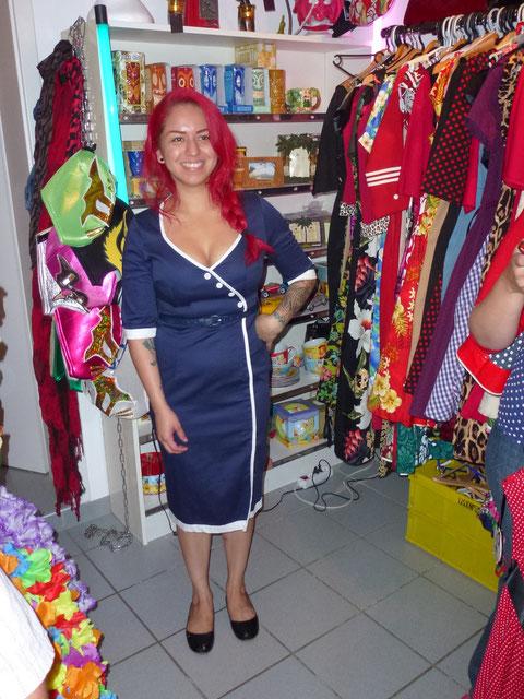 Natürlich wurde Marlene Perez ausgestattet vom Boom Chicka Boom Store