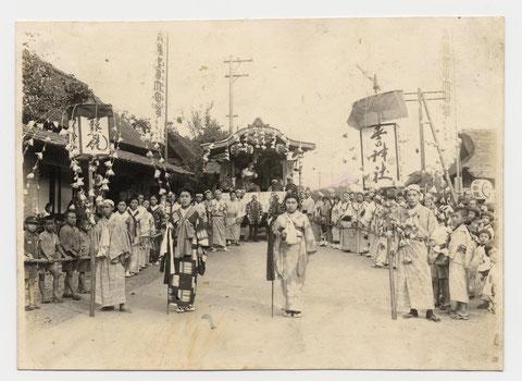 昭和17年春日神社例大祭の様子