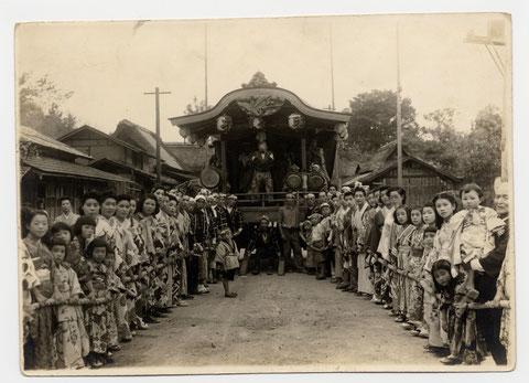 昭和24年春日神社例大祭の様子