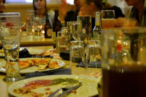 """Die gemeinsame """"Pizza-Danach"""" haben wir uns verdient"""