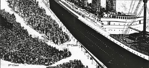 Boarding Lusitania, 1907