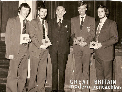 1976 Montreal: Archibald, Nightingale, Fox and Parker with President,  Sir Gerald Templer