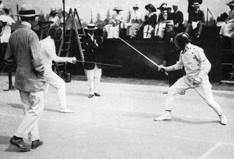 1912 Stockholm: Mas Latrie (FRA) vs Patton (USA)