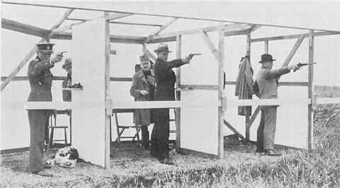 1928 Amsterdam: Rusica (TCH), Berg (SWE), Olsen (DEN) shooting