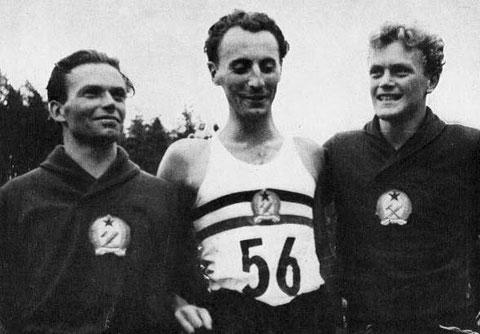 1952 Helsinki: Team Champions Hungary - Szondy, Benedek, Kovacsi