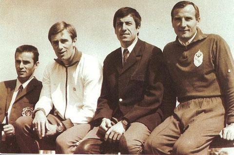 1970 Warendorf: Balczo (HUN), Fox (GBR), Kelemen (HUN), Sharparnis (URS)