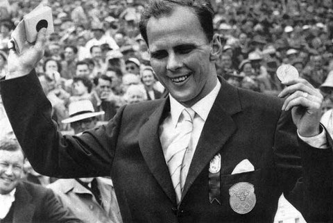 1956 Melbourne: Hall (SWE) Champion for the second time