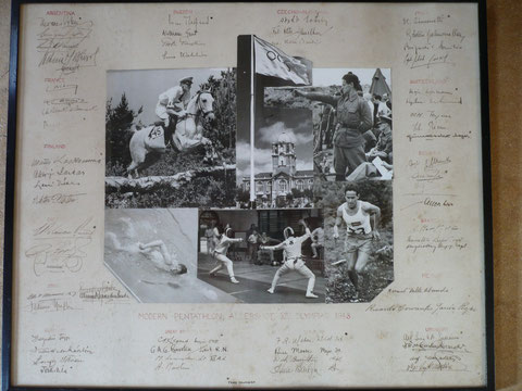 1948 London: Geoffrey Brooke's montage with autographs