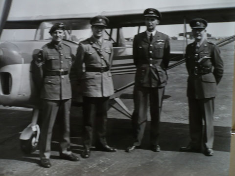 1950 Berne: The intrepid British team arrives in the makeshift plane
