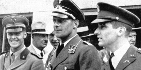1936 Berlin: Handrick (GER) Leonard (USA), Abba (ITA) medallists