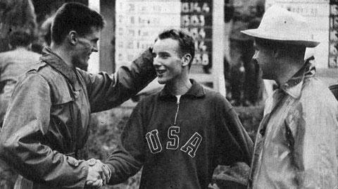 1952 Helsinki: Thad McArthur (USA) -running winner