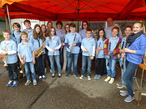 Jugendkapelle 2014 - MAI-Treff mit Dirigent Roland Kopp
