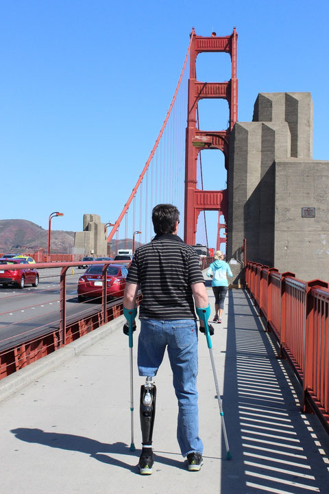 Christian auf der Golden Gate Bridge