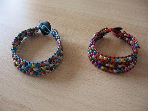 Bracelets wrap 3 tours : 9 euros.