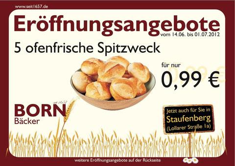 5 ofenfrische Spitzweck für nur 0,99 €