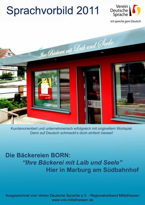 Urkunde für Verdienste um die deutsche Sprache