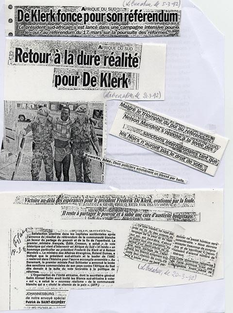 """vous voyez par vous-même , il est bien dit dans cet article """"européen"""" que De KlerK fonce pour son référendum !!!"""