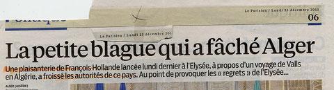"""vous voyez ! la guerre d'algérie est finie depuis longtemps mais on est encore ..."""" chauds"""" et ça réagit vite !!!"""
