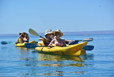 Kayak de mar en La Paz