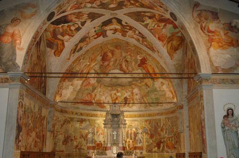Baseglia, chiesa di Santa Croce. Il ciclo di affreschi di Pomponio Amalteo (1544-1550).