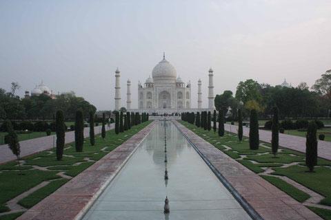 Das letzte Highlight einer langen Reise: Das Taj Mahal