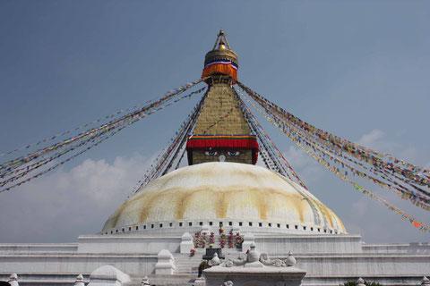 Boudhanath - die zweitgrößte Stupa der Welt