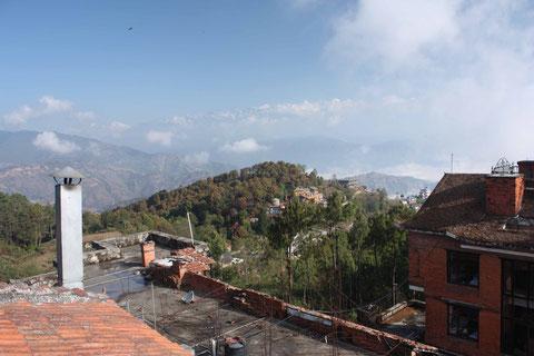 Sonnenaufgang über Nagarkot - über den Wolken der Himalaya