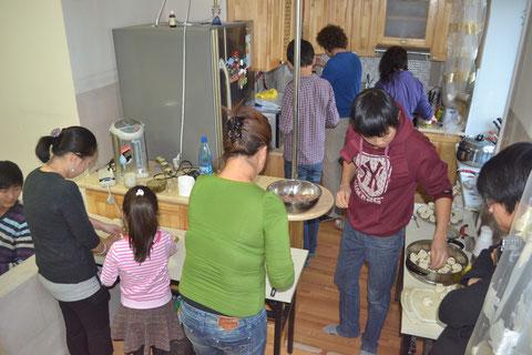 Viel Betrieb in der Küche
