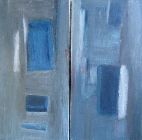 huile sur toile 2007  120 x 60 (x2)