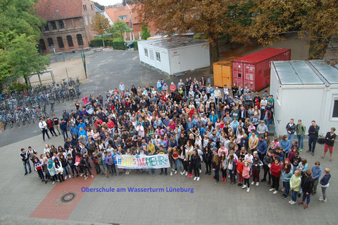 #wirsindmehr an der ObS am Wasserturm Lüneburg, 12.09.18