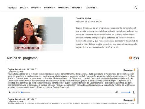 Entrevista a Cristina Acebrón Guirau en radio Seseña, El Portal de Mila y Oscar