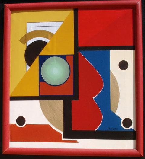Licata Gaetano - Sfera - olio tela - 57 X 43