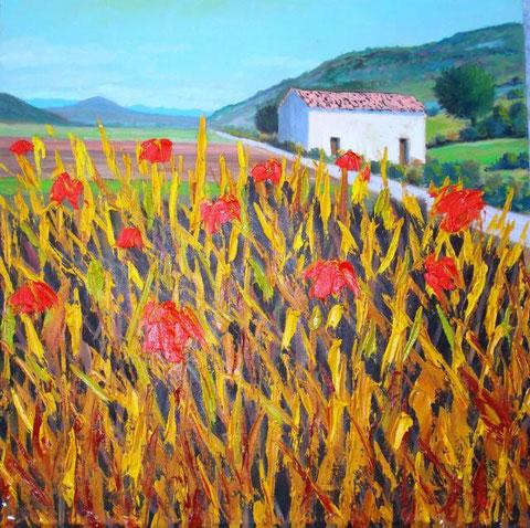 Mileo Gianni - Scena agreste - olio tela - 40 x 40 - 2012