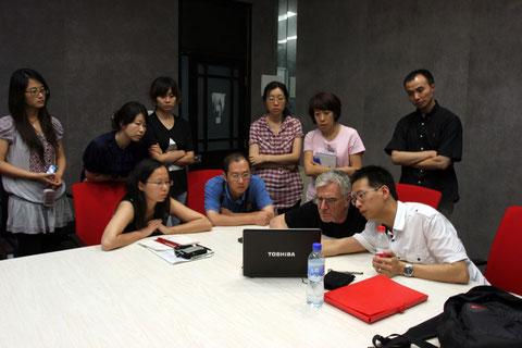 Réunion de tavail de l'équipe enseignante, Southeast University, Nanjing 2010