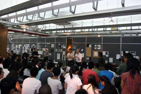 Meeting with students in Nanjing School of Achitecture, Southeast University -  workshop, Sept. 2010
