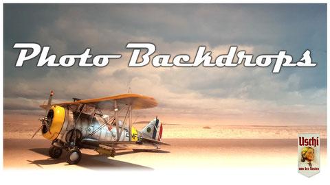 "Light Source: Daylight. Backdrop: Item #F8 ""Area 51 Desert Scene"""""