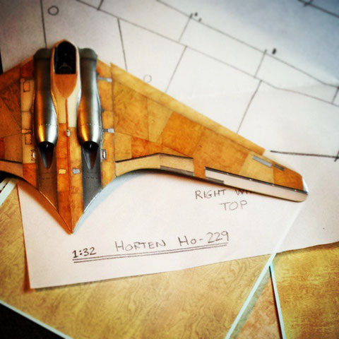 Product development: Modifying existing products using drawings and a 72nd scale test build