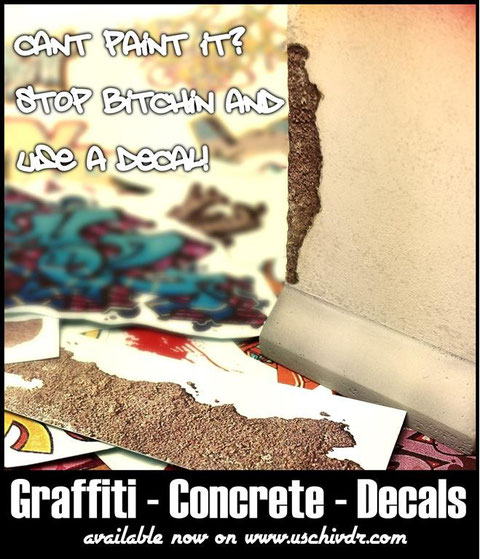 Graffiti Decals Concrete