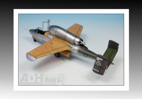 Heinkel-162 Uschi wood grain decals