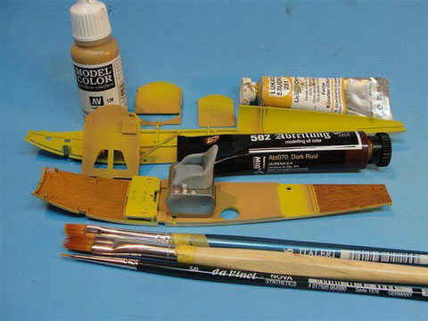 Note the yellowish base coat tones. Dark yellow and desert yellow were used here the most.